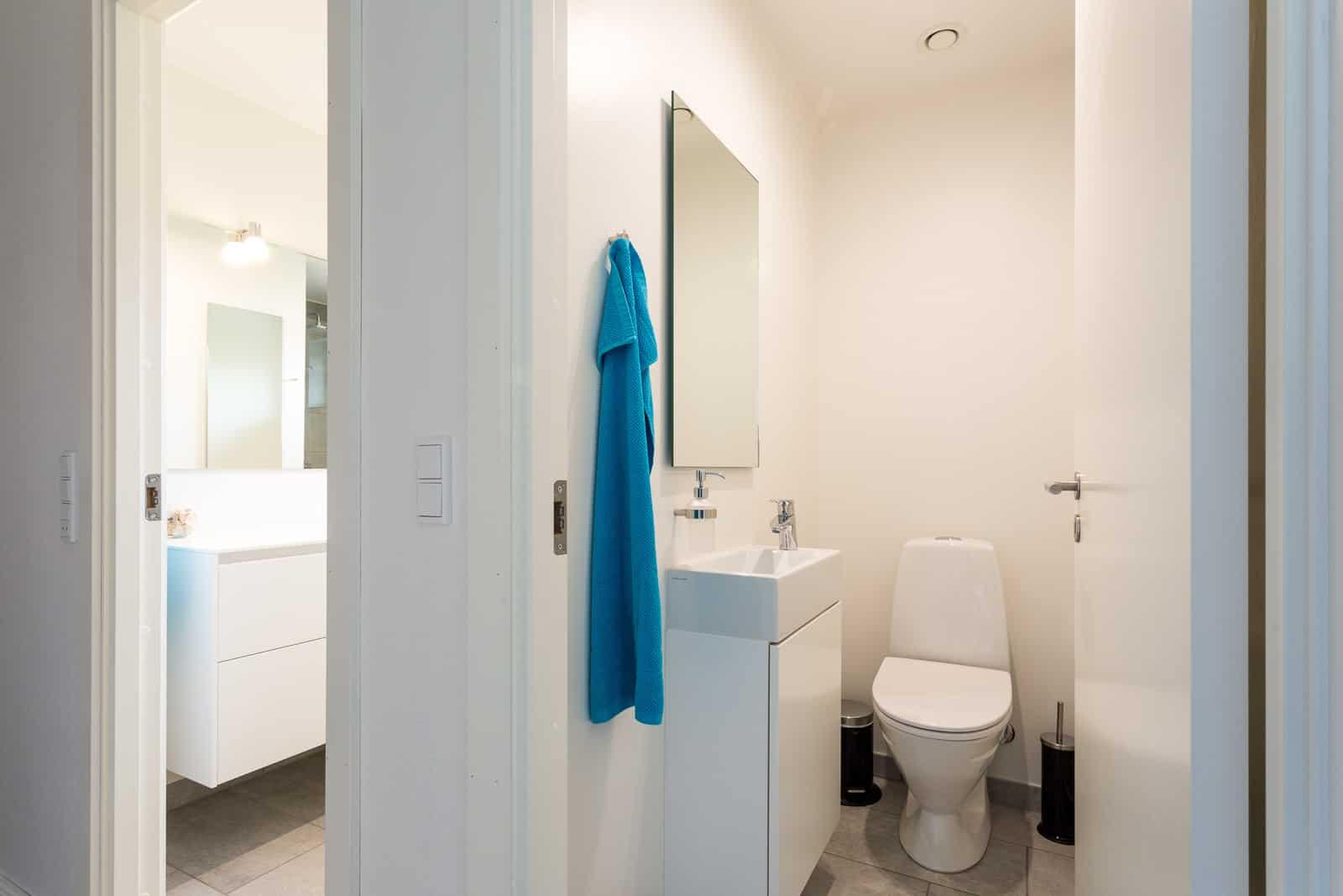 Nyt lyst badeværelse og gæstetoilet